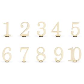 Drveni brojevi za sto 10.5cm - 10 kom