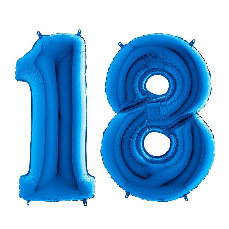 18. rođendan - plavi - 101cm