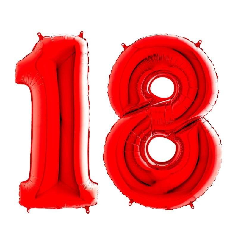18. rođendan - crveni - 101cm