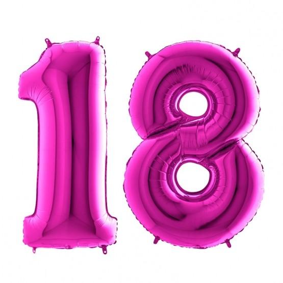 18. rođendan - ljubičasti - 101cm