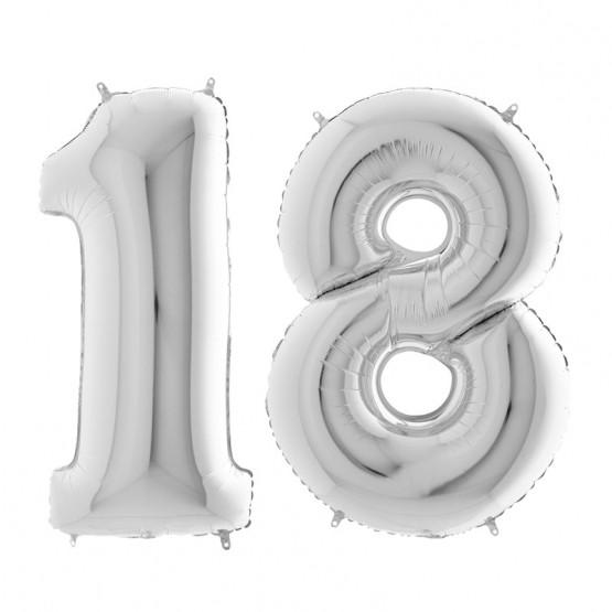18. rođendan - srebrni - 101cm