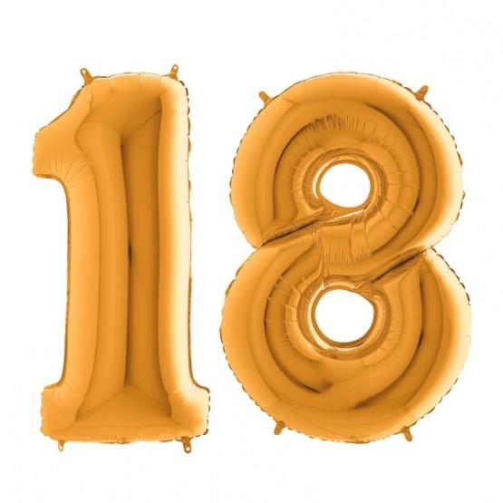18. rođendan - zlatni - 101cm