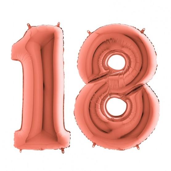 18. rođendan - zlatno-roze - 101cm