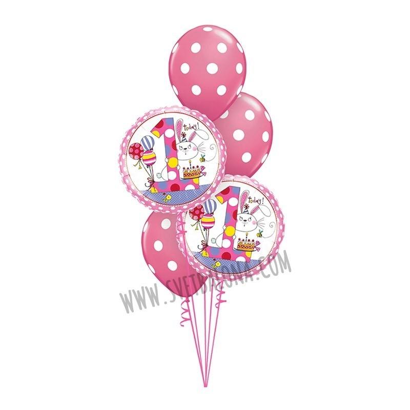 Buket za 1. rođendan 1   Svet Balona