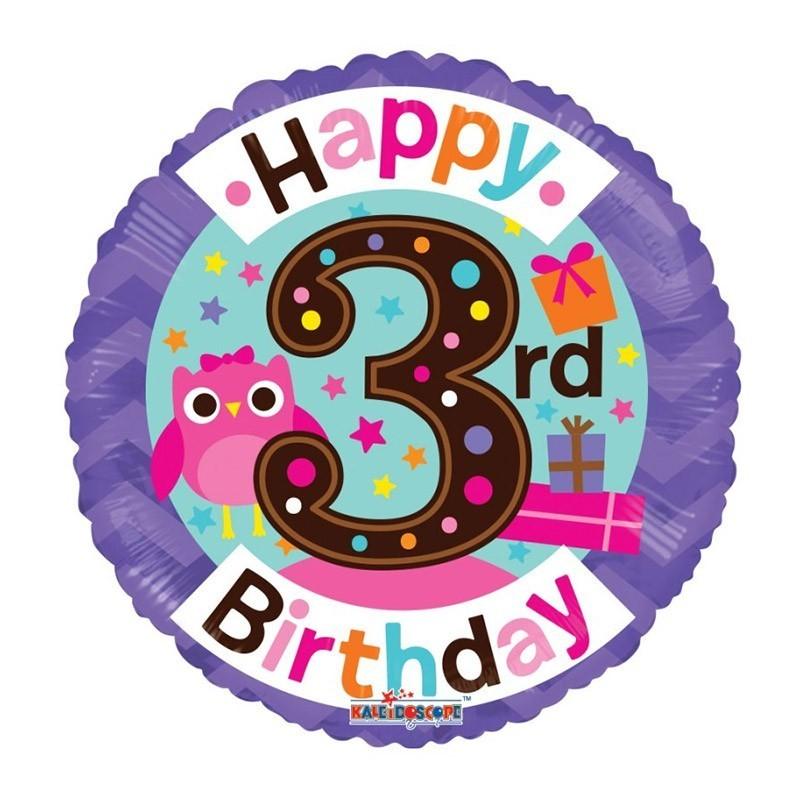 Happy 3rd birthday - 46cm