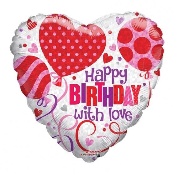 Happy birthday with love - 46cm