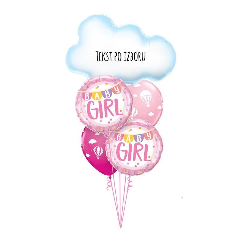 Buket za rođenje devojčice 14