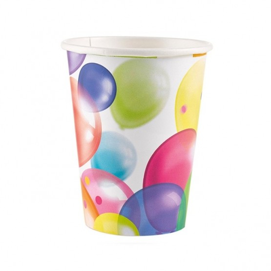 Čaše balončići 250ml - 8 kom