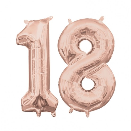 18. rođendan - rose gold - 86cm