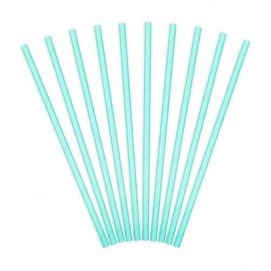 Slamčice svetlo plave - 10 kom