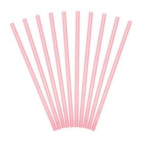 Slamčice svetlo roze - 10 kom