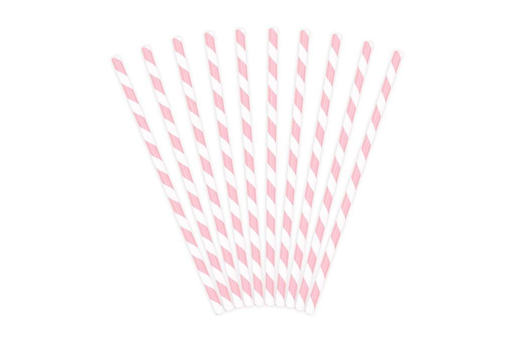 Slamčice bebi roze linije - 10 kom