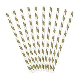 Slamčice zlatne linije - 10 kom