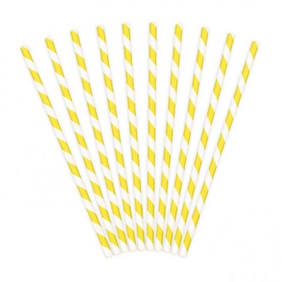 Slamčice žute linije - 10 kom