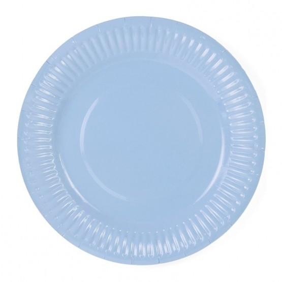 Tanjiri bledo plavi 18cm - 6 kom
