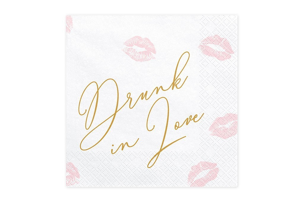 Salvete Drunk in love 33cm - 20 kom