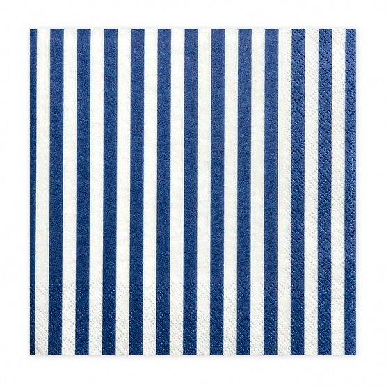 Salvete plavo bele linije 33cm - 20 kom