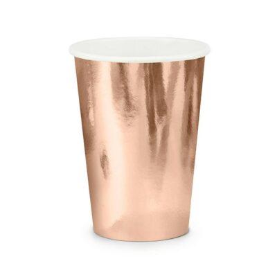 Čaše zlatno roze 220ml - 6 kom
