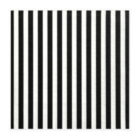 Salvete Crno bele linije 33cm - 20 kom