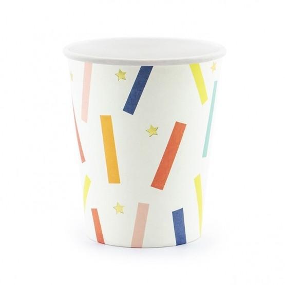 Čaše šarene konfete 200ml - 6 kom