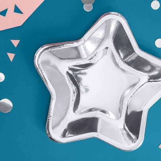 Tanjiri srebrna zvezda 23cm - 6 kom
