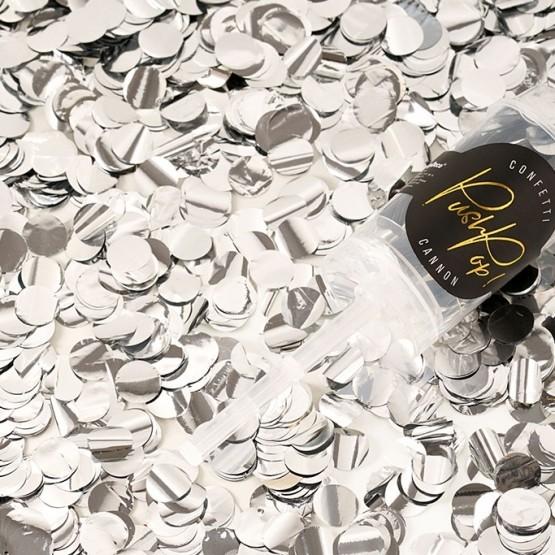 Push pop konfete - srebrne