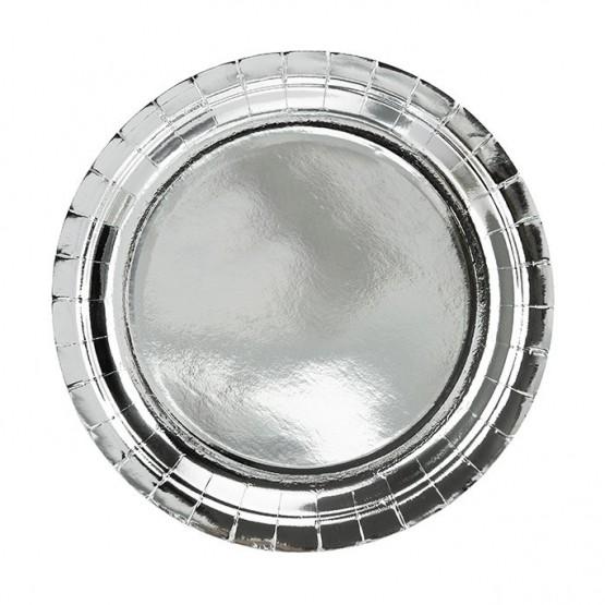 Tanjiri srebrni 18cm - 6 kom