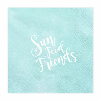 Salvete Sun, food, friends 33cm - 20 kom