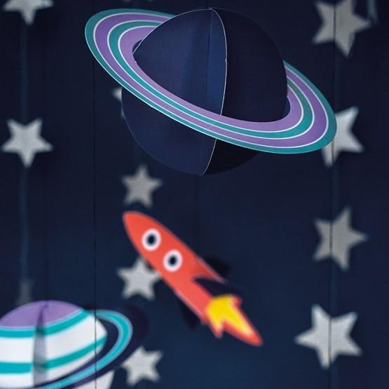 Viseća dekoracija svemir - 5 kom