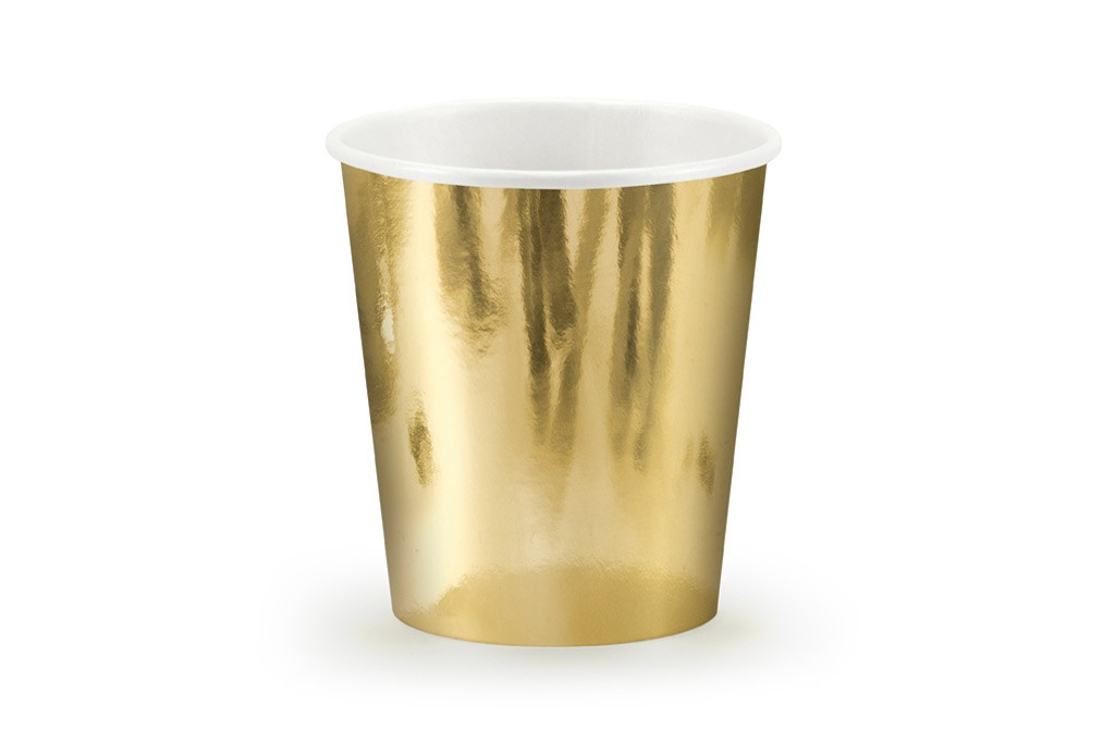 Čaše zlatne 180ml - 6 kom