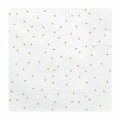 Salvete Zlatne tačkice 33cm - 20 kom