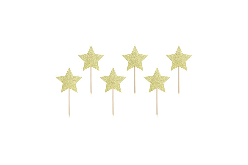 Toperi za mafine zlatne zvezde - 6 kom