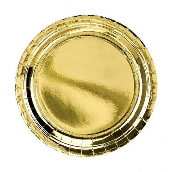 Tanjiri zlatni 18cm - 6 kom