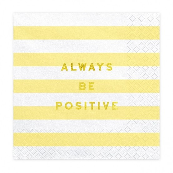 Salvete Always be positive 33cm - 20 kom