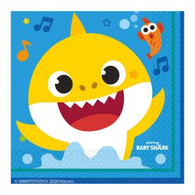 Salvete Baby Shark 33cm - 16kom
