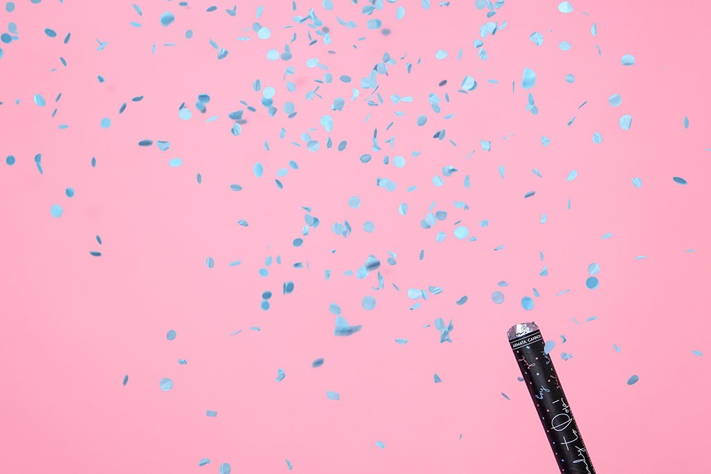 Top konfete plavi kružići - 60cm