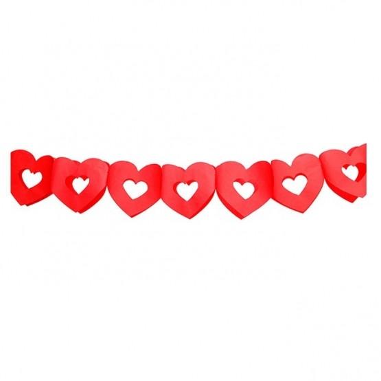 Baner crvena srca - 300cm