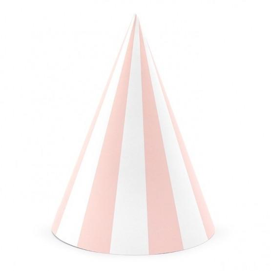 Kapice svetlo roze linije - 6 kom