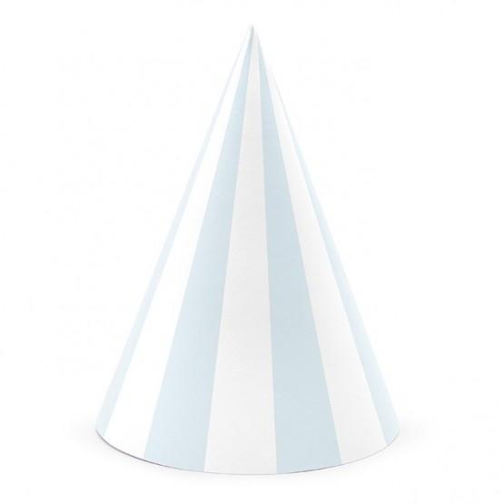 Kapice svetlo plave linije - 6 kom