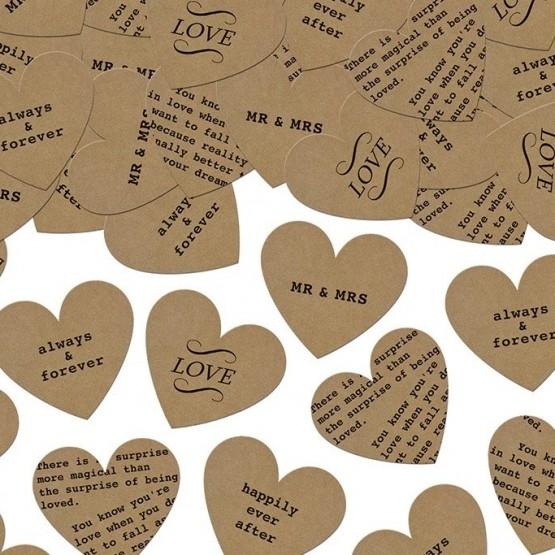 Konfete srca sa natpisima