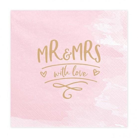 Salvete Mr & Mrs 33cm - 20 kom