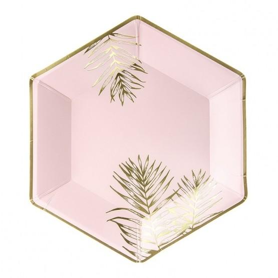 Tanjiri zlatni listovi 23cm - 6 kom
