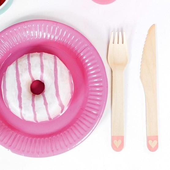 Tanjiri roze 18cm - 6 kom