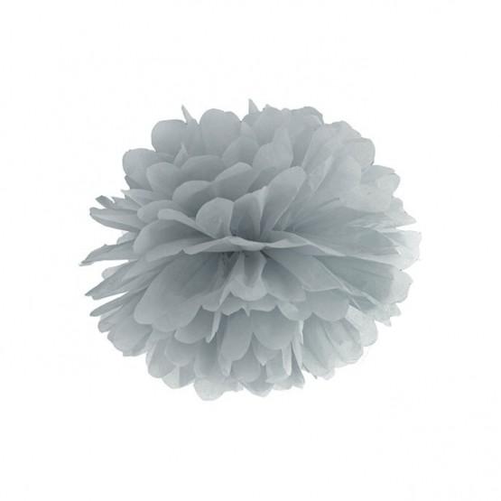 Pompom srebrni – 25cm