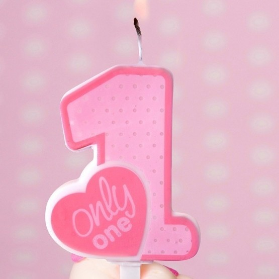 Rođendanska svećica - broj 1