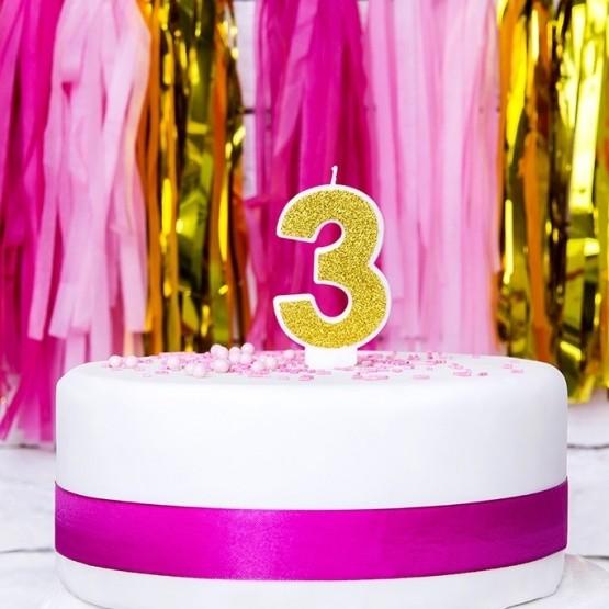 Rođendanska svećica - broj 3