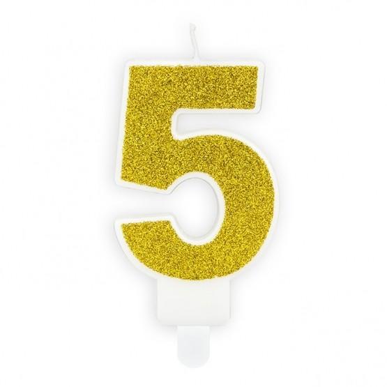 Rođendanska svećica - broj 5