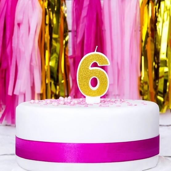 Rođendanska svećica - broj 6