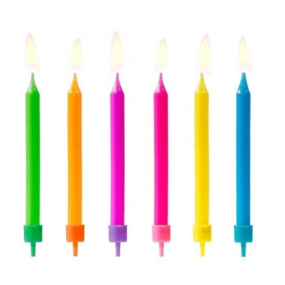 Rođendanske svećice mix boja - 6 kom