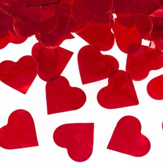 Top sa konfetama crvena srca – 40cm